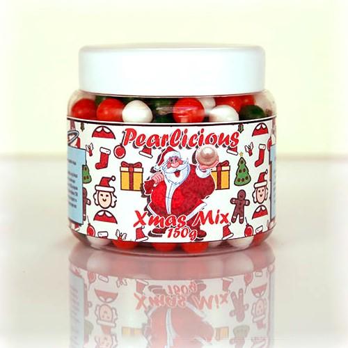 Χριστουγεννιάτικο Pearl Mix Βρώσιμες Πέρλες Σοκολάτας Pearlicious 150gr