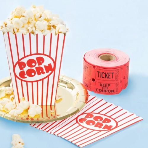 Χάρτινα Popcorn Boxes Λευκό Κόκκινο Ριγέ-Κουτιά Για Ποπ Κορν και Γλυκά