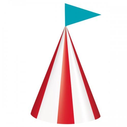 Χάρτινα Καπέλα Πάρτυ Τσίρκο Circus Carnival (8pcs)