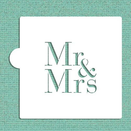 Mr & Mrs Cookie Stencils - Στένσιλ Για Μπισκότα Γάμου Ή Πλαϊνά Τούρτας Designer Stencils