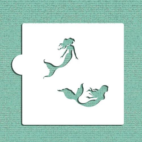 Mermaids Cookie Stencils - Στένσιλ Για Μπισκότα Γοργόνες Designer Stencils