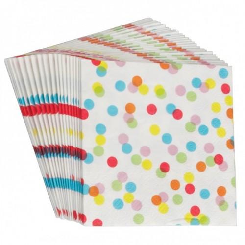 """""""Πολύχρωμο Κομφετί"""" χαρτοπετσέτες (20-pack)"""