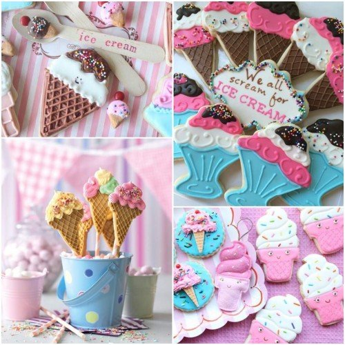 "Cookie Cutter Set ""Ice Cream Party""- Σετ Με 3 Κουπάτ ""Παγωτό"""
