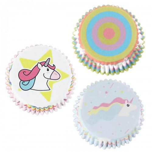 Θήκες για Cupcakes Μονόκερος PME 60pcs