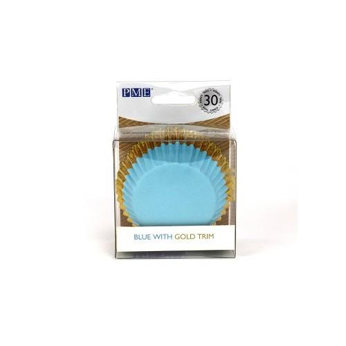 Γαλάζιο με Χρυσό Καραμελόχαρτα Αλουμινίου PME 30pcs
