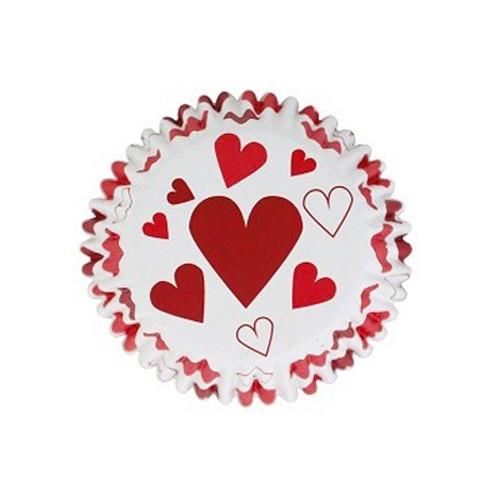 Κόκκινες Καρδιές Καραμελόχαρτα Αλουμινίου PME 30pcs