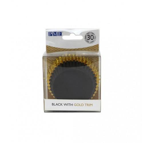 Μαύρο με Χρυσό Καραμελόχαρτα Αλουμινίου PME 30pcs