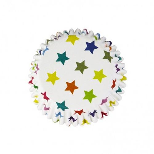 Πολύχρωμα Αστέρια Καραμελόχαρτα Αλουμινίου PME 30pcs