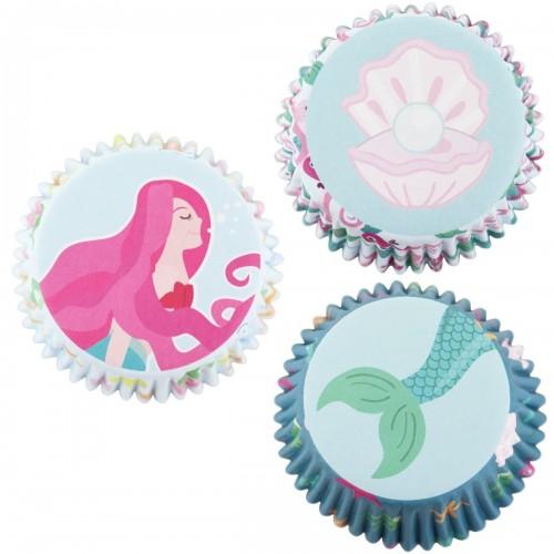 Θήκες για Cupcakes Γοργόνες PME 60pcs