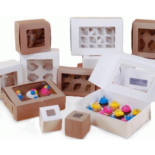 Λευκό Κουτί Για Mini Cupcakes/Muffins 12 θέσεων