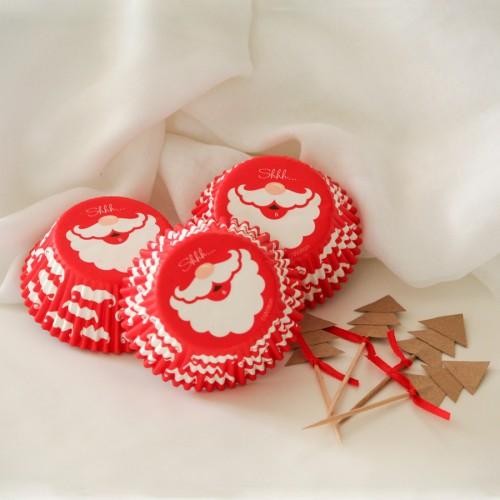 Θήκες Cupcakes-Άγιος Βασίλης Wilton (75-Pack)
