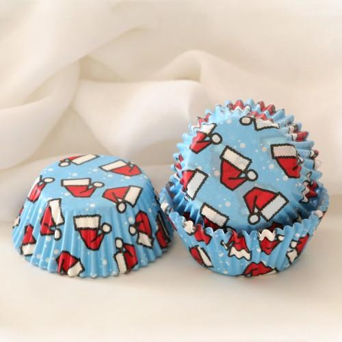 Θήκες Cupcakes-Σκούφος Του Άγιου Βασίλη PME(60-Pack)
