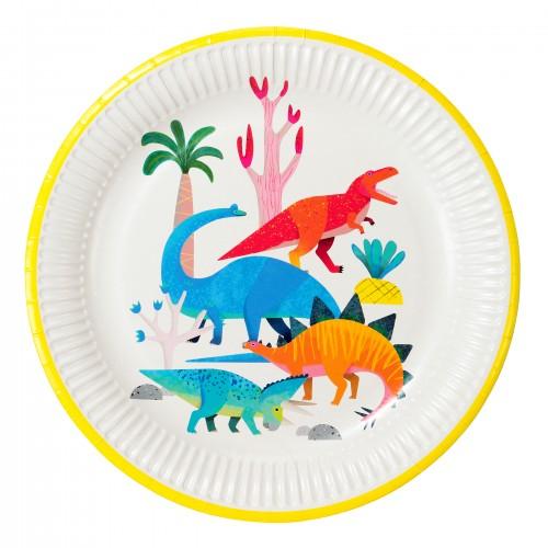 Χάρτινα Πιάτα Φαγητού Δεινόσαυροι Talking Tables