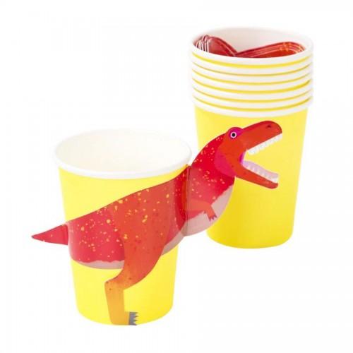 Χάρτινα Ποτήρια Δεινόσαυρος Dinosaur Paper Cups -Talking Tables