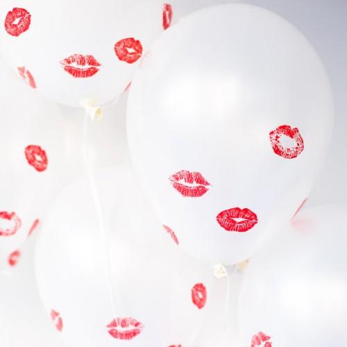 Περλέ Λευκά Μπαλόνια 30cm (5pcs)