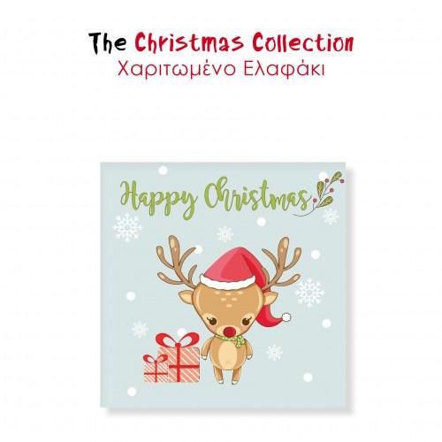 Αυτοκόλλητα Mini Για Συσκευασίες Χαριτωμένο Ελαφάκι The Christmas Collection 8pcs