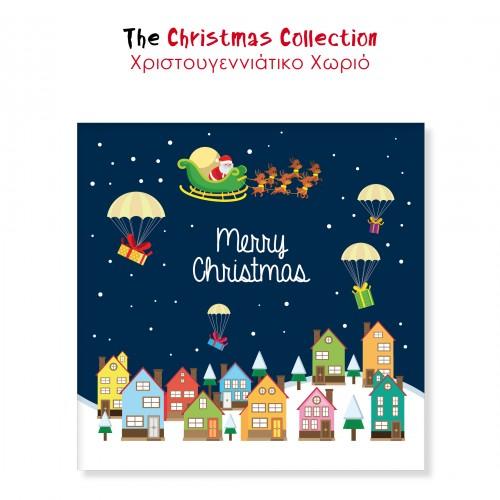 Αυτοκόλλητα Για Συσκευασίες Χριστουγεννιάτικο Χωριό The Christmas Collection
