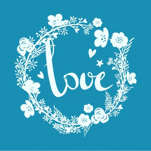 Love Stencil-Στένσιλ Μπισκότου Έρωτας -Crystal Candy