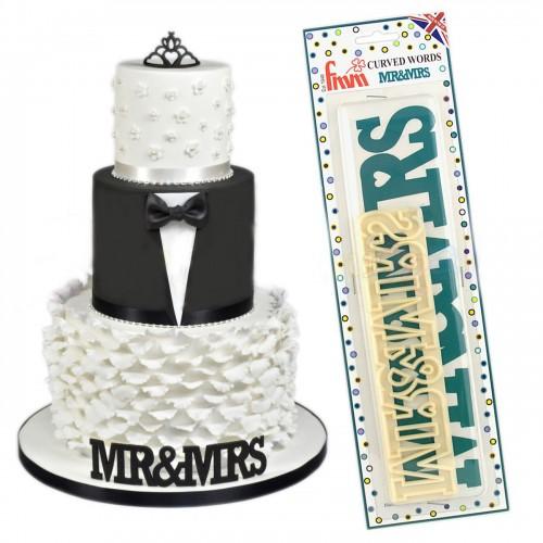 Κουπάτ Για Τούρτες Γάμου Mr & Mrs Tappit της FMM