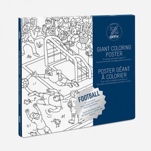 Γιγάντιο Πόστερ Ζωγραφικής Ποδόσφαιρο - Giant Poster Football OMY