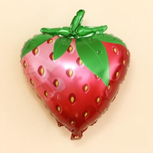 Μεταλλικό Μπαλόνι Σχήμα Φράουλα