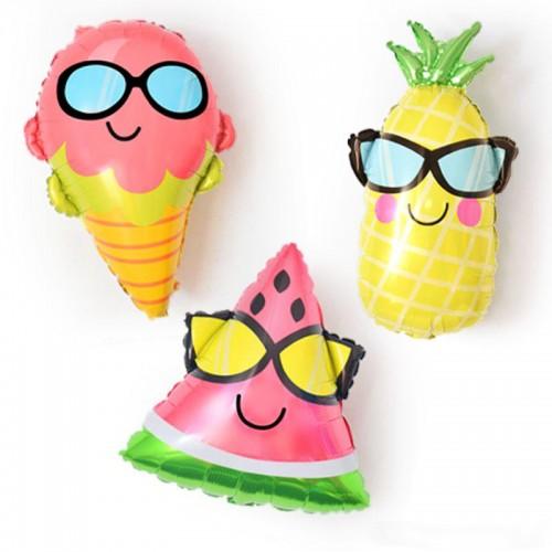 Σετ Μπαλόνια Με Γυαλιά Ηλίου Ανανάς Καρπούζι Παγωτό