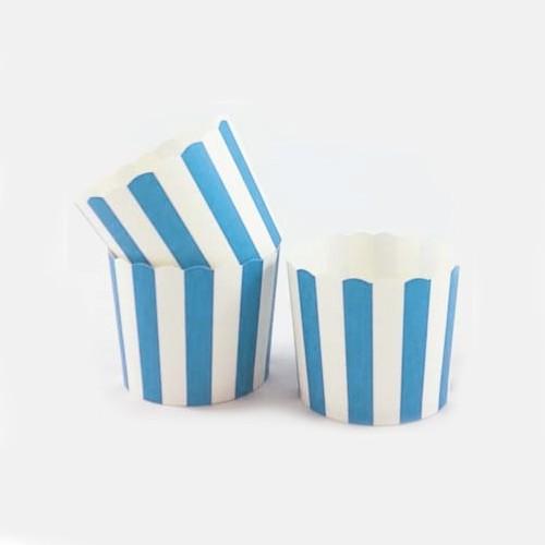 Θήκες Για Cupcakes Ριγέ Γαλάζιο 25pcs