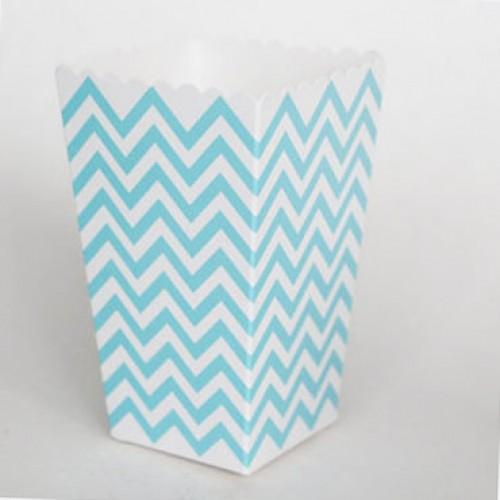 abcJoy chevron γαλάζια popcorn boxes (12-pack)