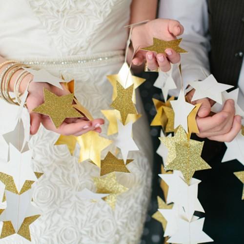 Γιρλάντα Με Glitter Αστέρια-Επιλέξτε Χρώμα