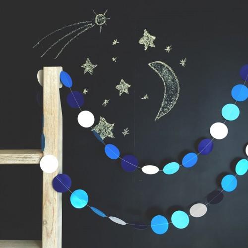 "AbcJoy Blue Flash Γιρλάντα Χάρτινη ""Pop Dots"""