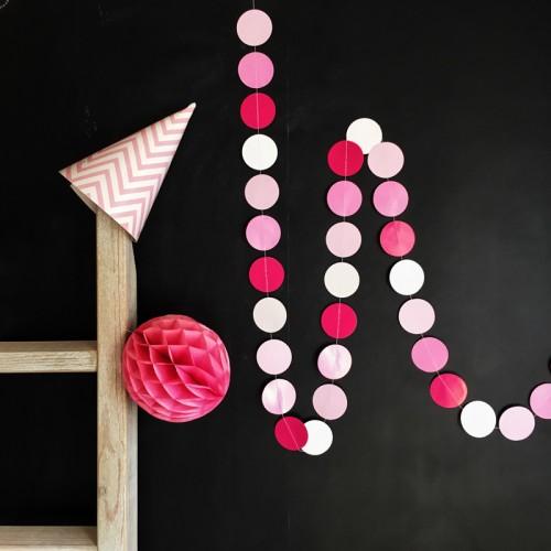 "AbcJoy Pink Flash Γιρλάντα Χάρτινη ""Pop Dots"""