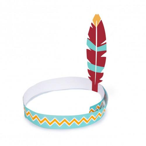Χάρτινα Καπέλα Με Φτερό - Ινδιάνοι Tepee & Tomahawk