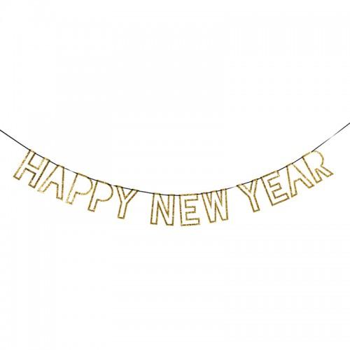 Πρωτοχρονιάτικη Γιρλάντα Χρυσή Happy New Year Meri Meri