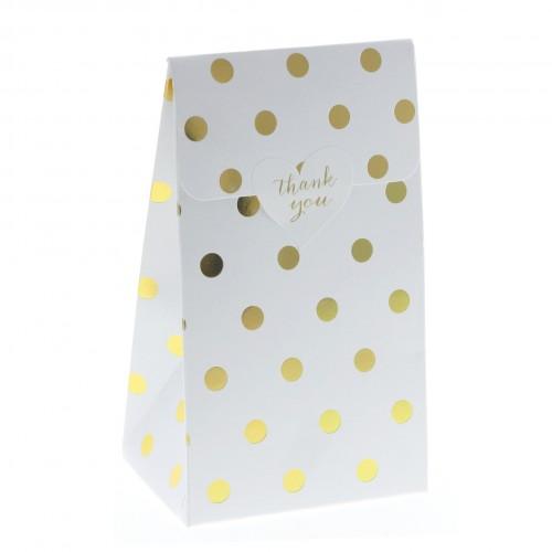 Πουά Χρυσά Foil Σακουλάκια Xάρτινα Με Βάση (6-pack)