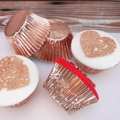 Foil Καραμελόχαρτο ροζ-χρυσό (45-pack)