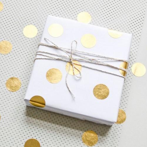 Αυτοκόλλητα Χρυσοί Κύκλοι Για Συσκευασίες Και Δώρα Πάρτυ