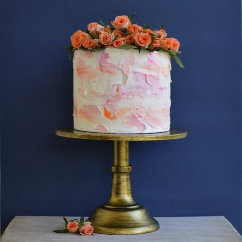 Χρυσό Μπρονζέ Μεταλλικό Cake Stand