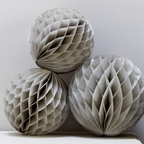 abcJoy Γκρι Honeycomb ball - 8''