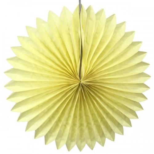 abcJoy κίτρινο παστέλ Paper Fan