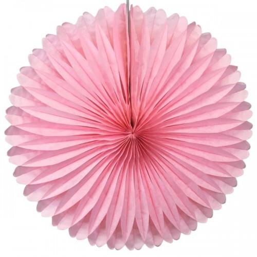 abcJoy ροζ Paper Fan