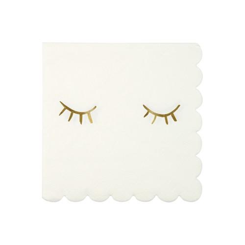 Χαρτοπετσέτες Με Χρυσά Βλέφαρα - Blink Napkins Meri Meri