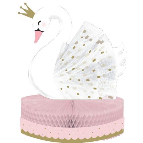 Διακοσμητικό Τραπεζιού Honeycomb Πριγκίπισσα Κύκνος - Swan Party