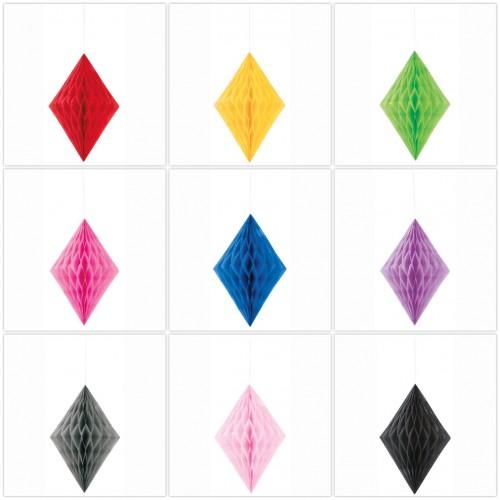 Χάρτινο Διακοσμητικό Διαμάντι-Diamond Honeycomb-Επιλέξτε Χρώμα