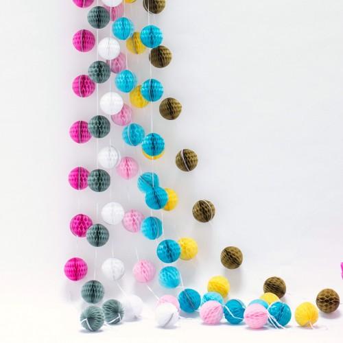 Μονόχρωμες Γιρλάντες-Επιλέξτε Χρώμα-Mini Honeycomb Garland-Unique