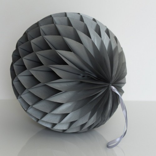 Ασημί Honeycomb ball-20cm-Unique