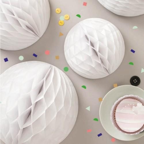 Λευκή Honeycomb ball - 10''(25cm) My Little Day