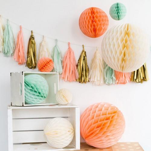 abcJoy Κοραλί-Coral Honeycomb ball - 14''