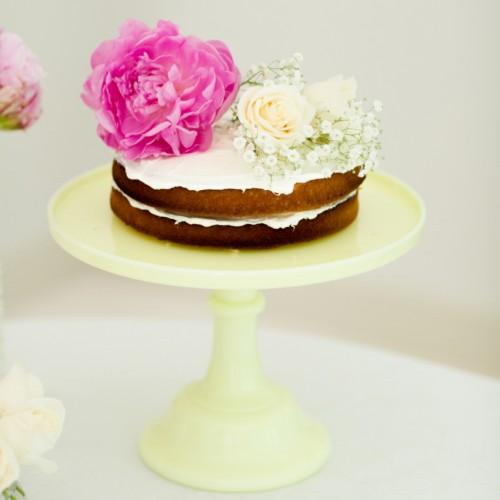 Κίτρινο Pale Κεραμικό Cake Stand-Miss Etoile