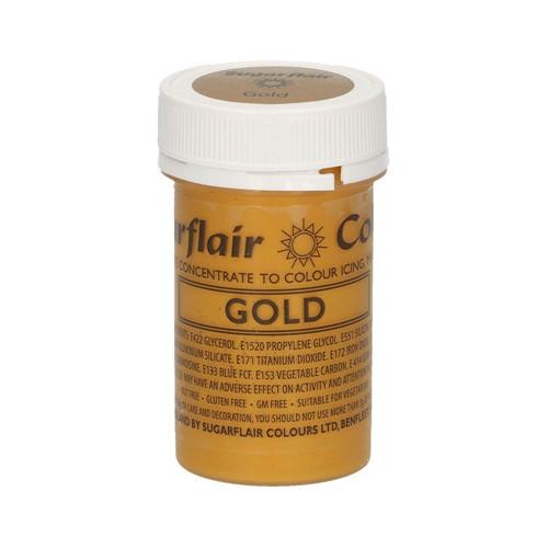 Χρυσό Σατινέ Συμπυκνωμένο Χρώμα Πάστας 25γρ της Sugarflair