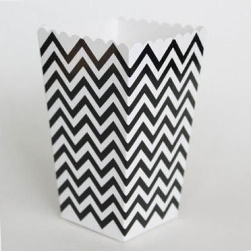 abcJoy chevron μαύρα popcorn boxes (12-pack)